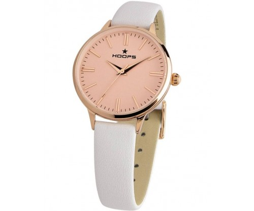HOOPS Classic Gold White Leather Strap
