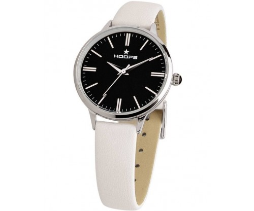 HOOPS Classic White Leather Strap