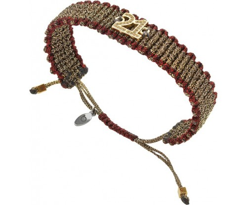 BREEZE Knitted Bracelet, Alloy, Gold-tone plated