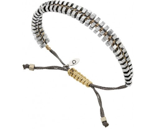 BREEZE Macramé Bracelet, Alloy, Silver-tone plated