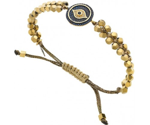 BREEZE Macramé Eye Bracelet, Alloy, Gold-tone plated