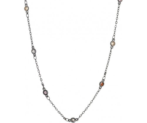BREEZE Station Necklace, Alloy, Gun Metal-tone plated
