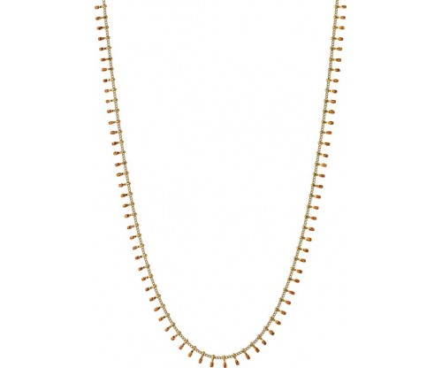 BREEZE Necklace, Stainless steel, Gold-tone plated