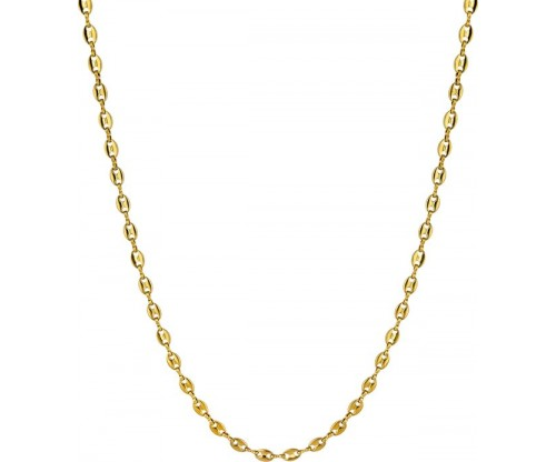 BREEZE Chain Necklace, Stainless steel, Gold-tone plated
