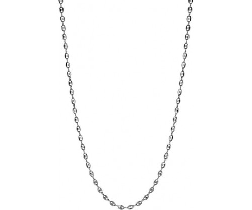 BREEZE Chain Necklace, Stainless steel, Silver-tone plated