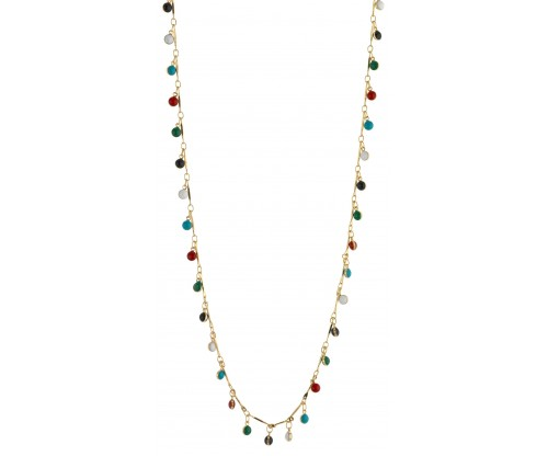 BREEZE Color Drops Necklace, Alloy, Gold-tone plated