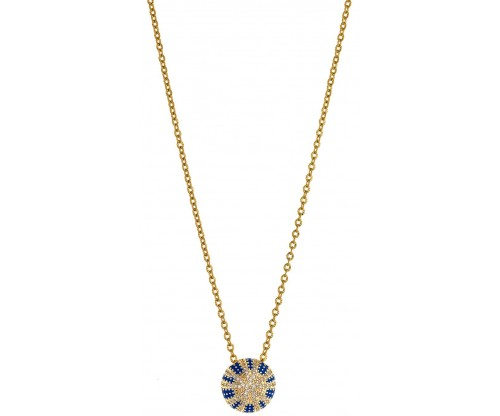 BREEZE Dazzling Reflections Necklace, Stainless steel, Gold-tone plated