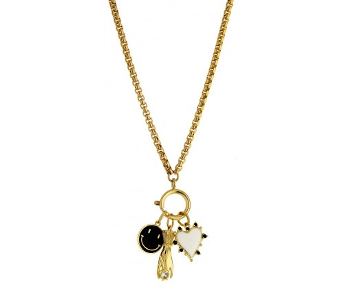 BREEZE Charms Necklace, Alloy, Gold-tone plated