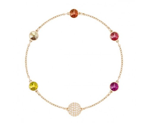SWAROVSKI REMIX COLLECTION ORANGE, MULTI-COLORED, ROSE GOLD PLATING