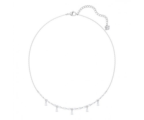 SWAROVSKI Louison Necklace, White, Rhodium plated