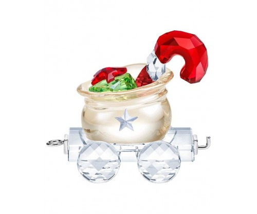SWAROVSKI Santa s Gift Bag Wagon