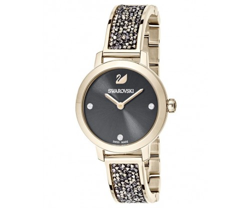 SWAROVSKI Cosmic Rock Watch, Metal Bracelet, Gray, Champagne Gold Tone PVD