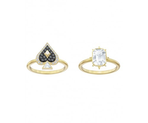 SWAROVSKI Tarot Magic Ring Set, Multi-colored, Gold-tone plated, Size 55