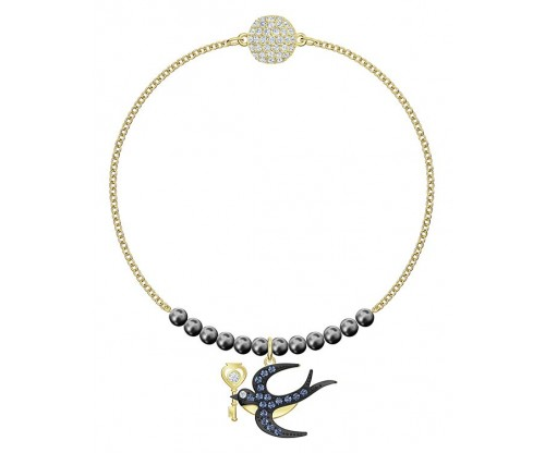 SWAROVSKI Swarovski Remix Collection Swallow Strand, Multi-colored, Gold-tone plated,Size S
