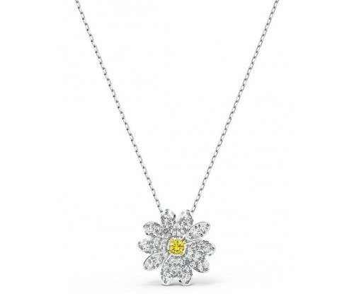 SWAROVSKI Eternal Flower Pendant, Yellow, Mixed metal finish