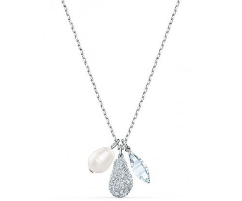 SWAROVSKI So Cool Cluster Necklace, White, Rhodium plated