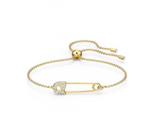 SWAROVSKI So Cool Pin Bracelet, White, Gold-tone plated