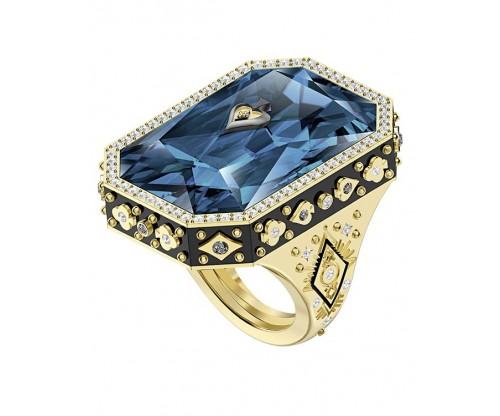 SWAROVSKI Tarot Magic Cocktail Ring, Blue, Gold-tone plated, Size 55-60