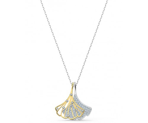SWAROVSKI Stunning Ginko Pendant, White, Mixed metal finish