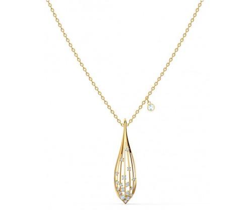 SWAROVSKI Stunning Olive Pendant, White, Goldtone plated