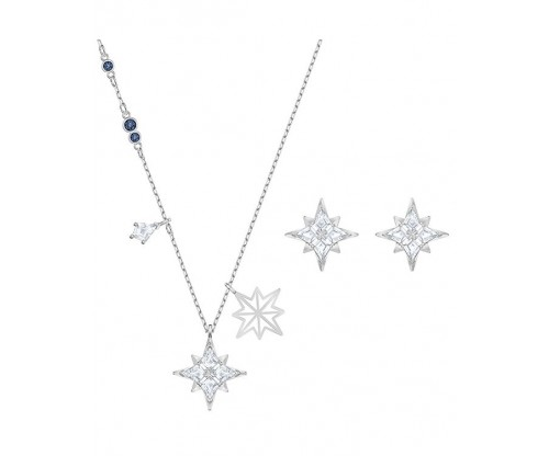 SWAROVSKI Symbol Star Set, White, Rhodium plated