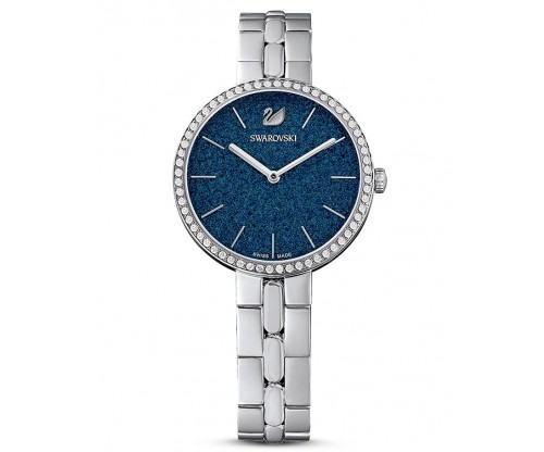 SWAROVSKI Cosmopolitan Watch, Metal bracelet, Blue, Stainless steel