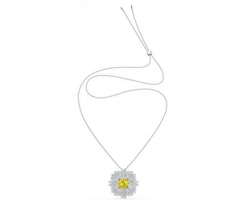 SWAROVSKI Eternal Flower Brooch, Yellow, Mixed metal finish