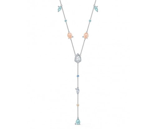 SWAROVSKI Sunny Y Necklace, Light multicolored, Rhodium plated