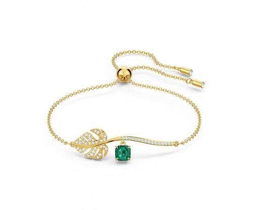 SWAROVSKI Tropical Bracelet, Green, Gold-tone plated