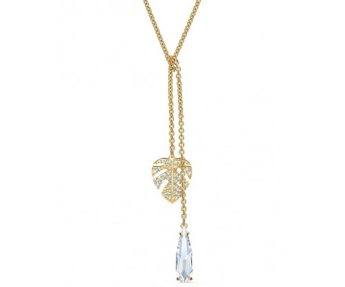 SWAROVSKI Tropical Necklace, White, Gold-tone plated