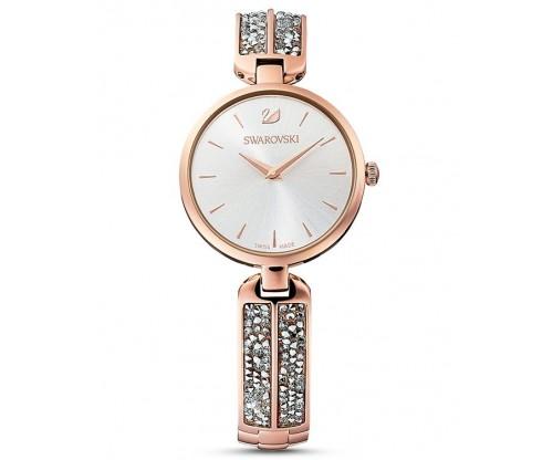 SWAROVSKI Dream Rock Watch, Metal Bracelet, Silver tone, Rose-gold tone PVD