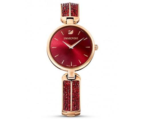 SWAROVSKI Dream Rock Watch, Metal Bracelet, Red, Rose-gold tone PVD
