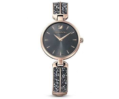 SWAROVSKI Dream Rock Watch, Metal Bracelet, Gray, Champagne-gold tone PVD