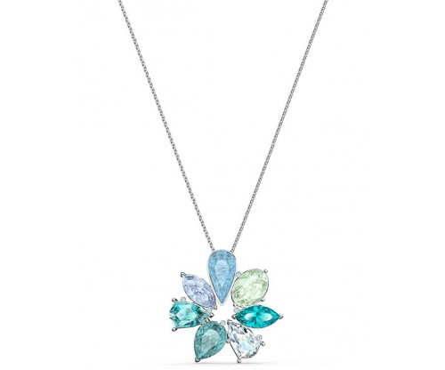 SWAROVSKI Sunny Flower Pendant, Light multi-colored, Rhodium plated