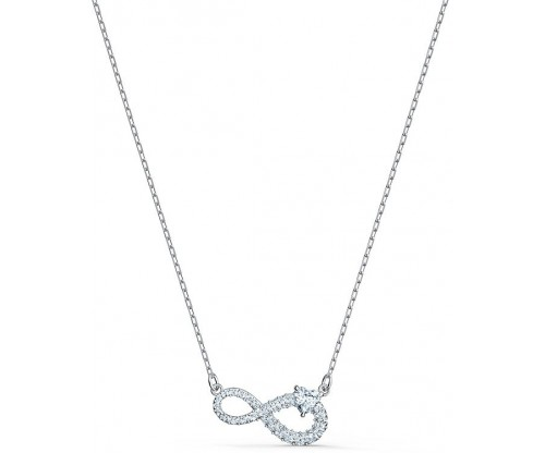 SWAROVSKI Swarovski Infinity Necklace, White, Rhodium plated