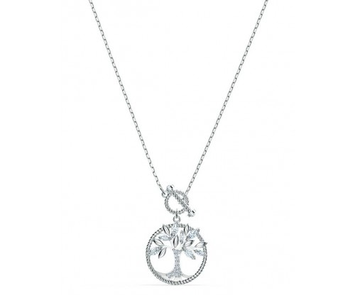SWAROVSKI Symbolic Tree of Life Necklace, White, Rhodium plated