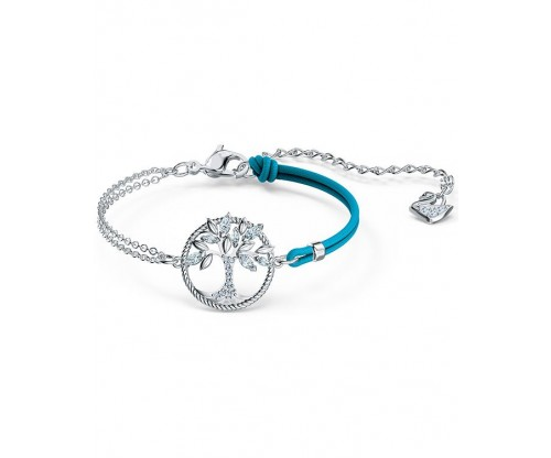 SWAROVSKI Symbolic Tree of Life Bracelet, Blue, Rhodium plated