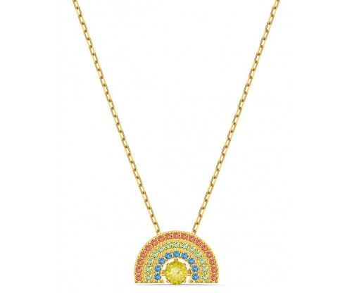 SWAROVSKI Sparkling Dance Rainbow Necklace, Light multicolored, Goldtone plated
