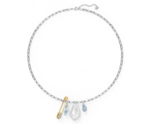SWAROVSKI So Cool Cluster Necklace, White, Mixed metal finish