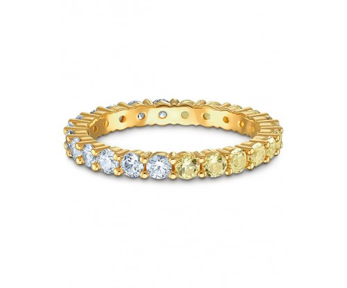 SWAROVSKI Vittore Half Ring, Gold tone, Gold-tone plated, Size 55