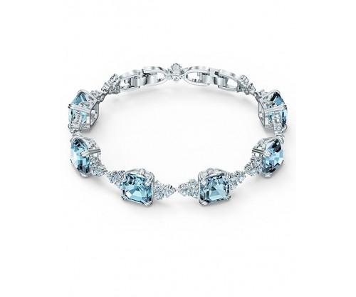 SWAROVSKI Sparkling Bracelet, Aqua, Rhodium plated
