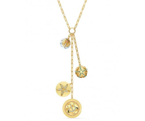 SWAROVSKI Shine Y Necklace, Light multi-colored, Goldtone plated