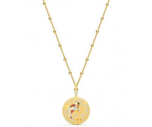 SWAROVSKI Shine Fish Pendant, Red, Goldtone plated