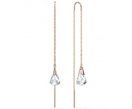 SWAROVSKI Spirit Pierced Earrings, White, Rosegold tone plated