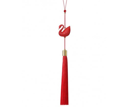 SWAROVSKI Red Swan Ornament