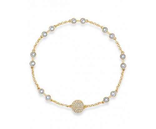 SWAROVSKI Remix Collection Carrier, White, Gold-tone plated, Size M