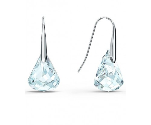 SWAROVSKI Spirit Pierced Earrings, Aqua, Rhodium plated