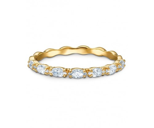SWAROVSKI Vittore Marquise Ring, White, Gold-tone plated, Size 58