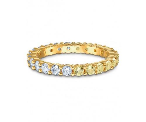 SWAROVSKI Vittore Half Ring, Gold tone, Gold-tone plated, Size 58