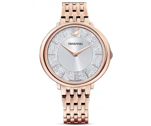 SWAROVSKI Cristalline Chic Watch, Metal bracelet, Rose gold tone, Rose-gold tone PVD